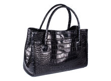 Elegant black bag Stock Images