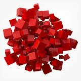 Elegant red cubes. 3d style vector illustration. Elegant black cubes. 3d style vector illustration. suitable for any banner, ad, technology and abstract themes Royalty Free Stock Photography