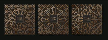 Arabic Black and Gold Pattern vector illustration