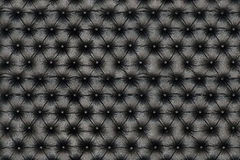 Elegant black leather texture with buttons for pattern and backg Royalty Free Stock Images