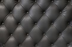 Elegant black leather texture with buttons for pattern and background. Thailand Stock Image