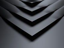 Elegant  metallic background with corners Stock Image