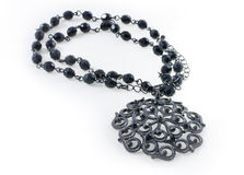 Elegant black necklace Royalty Free Stock Photo
