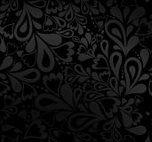 Elegant black seamless pattern. Vector Royalty Free Stock Images