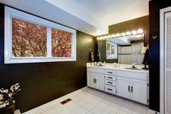 Elegant black and white bathroom Royalty Free Stock Photo