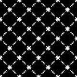 Elegant Black and White Flower Seamless Pattern Royalty Free Stock Images
