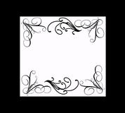 Elegant black and white frame Royalty Free Stock Photos