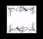 Elegant black and white frame. Black and white frame with elegant whispy borders Royalty Free Stock Photos
