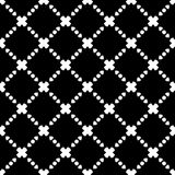 Elegant Black and White Rhombus Seamless Pattern Stock Photography