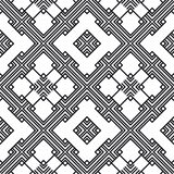 An elegant black and white. Seamless pattern for a fabric, papers, tiles Royalty Free Stock Images