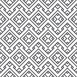 An elegant black and white. Seamless pattern for a fabric, papers, tiles Royalty Free Stock Photos