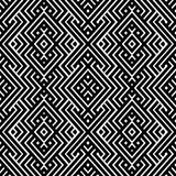An elegant black and white, vector pattern Stock Photo
