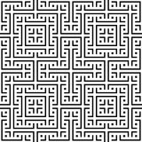 An elegant black and white vector pattern, geometric square tile Stock Image