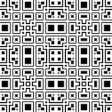 An elegant black and white vector pattern, geometric square tile Royalty Free Stock Images