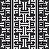 An elegant black and white, vector pattern. Geometrical pattern black and white color Royalty Free Stock Photography