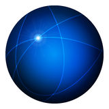 Elegant blank blue glossy web button Stock Images