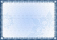Elegant blauw modieus frame Royalty-vrije Stock Foto