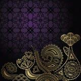 Elegant blom- design Royaltyfri Foto