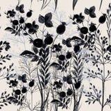 Elegant blommavektormodell med växter Tappningprovancestyl vektor illustrationer