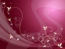 Elegant blommig bakgrund betyder delikat garnering eller vår S Royaltyfria Bilder
