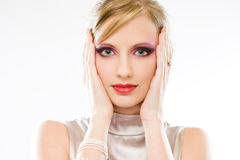 Elegant blond beauty. Royalty Free Stock Image