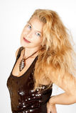 Elegant blond woman Stock Images