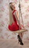 Elegant blond woman Royalty Free Stock Image