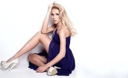 Elegant blonde woman posing. Royalty Free Stock Image