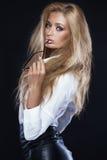 Elegant blonde woman posing. Stock Photography