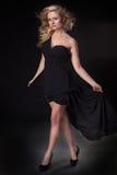 Elegant blonde woman posing in studio. Stock Images