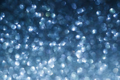 Elegant blue abstract background with bokeh stock photo
