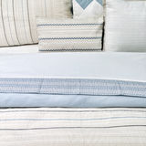 Elegant blue bed linen Royalty Free Stock Image