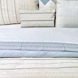 Elegant blue bed linen royalty free stock image