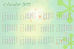 Elegant blue calendar 2011. Calendar. Winter. Background with an abstract Royalty Free Stock Photography