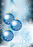 Elegant blue Christmas background Royalty Free Stock Image