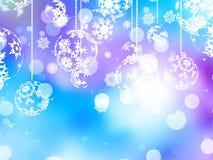 Elegant blue christmas background. EPS 10 Stock Photos