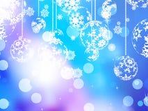 Elegant blue christmas background. EPS 10 Royalty Free Stock Photos