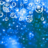Elegant blue christmas background. EPS 8 Royalty Free Stock Images