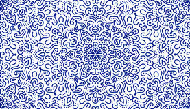 Elegant Blue Flower Line Pattern Royalty Free Stock Photos