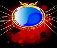 Elegant blue and gold background Stock Photo