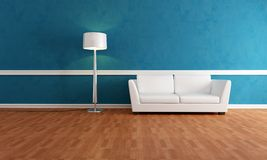 Elegant blue interior Royalty Free Stock Photo