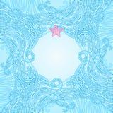 Elegant blue patterned frame Royalty Free Stock Photo