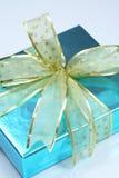 Elegant blue present Stock Images