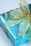 Elegant blue present Stock Photos
