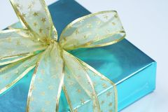 Elegant blue present Royalty Free Stock Images