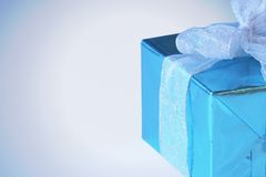 Elegant blue present Stock Image