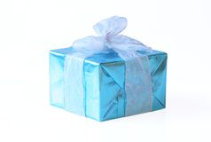 Elegant blue present Royalty Free Stock Photography
