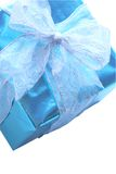 Elegant blue present Royalty Free Stock Photo