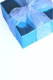 Elegant blue present Royalty Free Stock Images