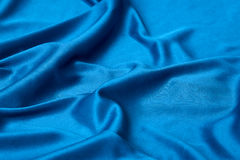 Elegant blue silk. Smooth elegant blue silk perfect  use as background Stock Photo